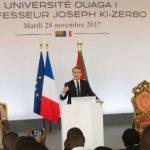 Les points forts du discours d'Emmanuel Macron à Ouagadougou