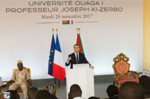 Article : Les points forts du discours d'Emmanuel Macron à Ouagadougou