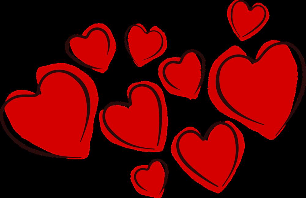 Les cœurs, le symbole de l'amour. ,